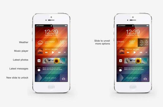 iOS7 concept by Andre Almeida