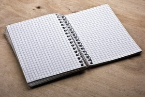 Blank gridded notepad