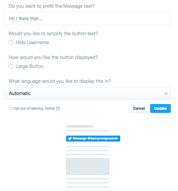 twitter-message-button-customize