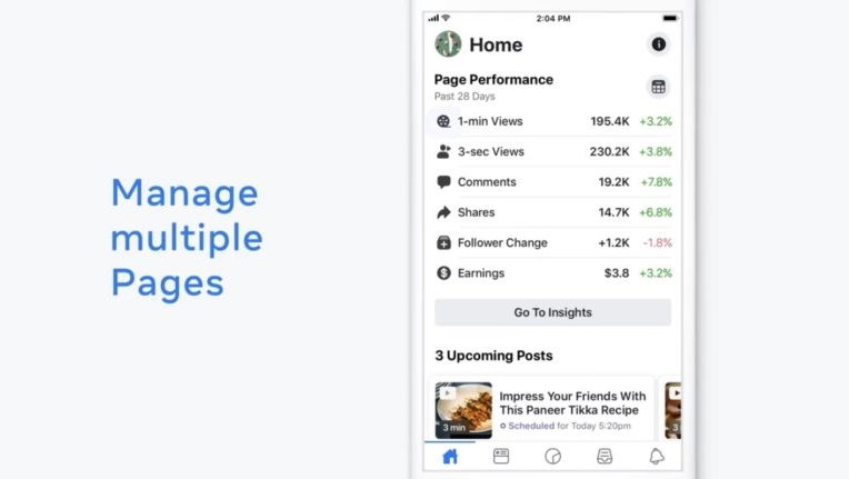 Facebook Creator Studio Manage Multiple Pages
