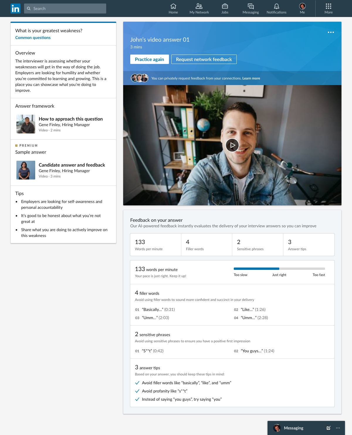 LinkedIn AI-Powered Video Feedback